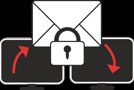Med e-mailkrytering kan du sende fortrolig eller privat e-mail